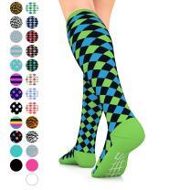 Go2 Compression Socks for Women Men Nurses Runners 15-20 mmHg (Medium) Stocking