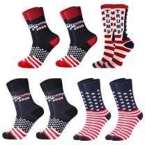 7 Pairs Donald Trump 2020 Socks American Flag Socks,Trump Socks Make America Great Again Republican Socks for President Trump Election Father's Gift
