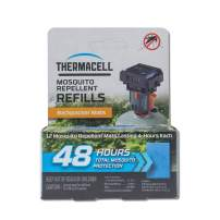Thermacell Backpacker Mosquito Repellent Mat-Only Refills, 48-Hour Pack; Contains 12 Repellent Mats, Each Lasting 4 Hours; Use with Convenient and Easy to Use Backpacker Mosquito Repeller; DEET-Free