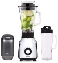 Tribest Personal, Single Serve Glass Blender with Electric Vacuum Pump, One-Size, Black