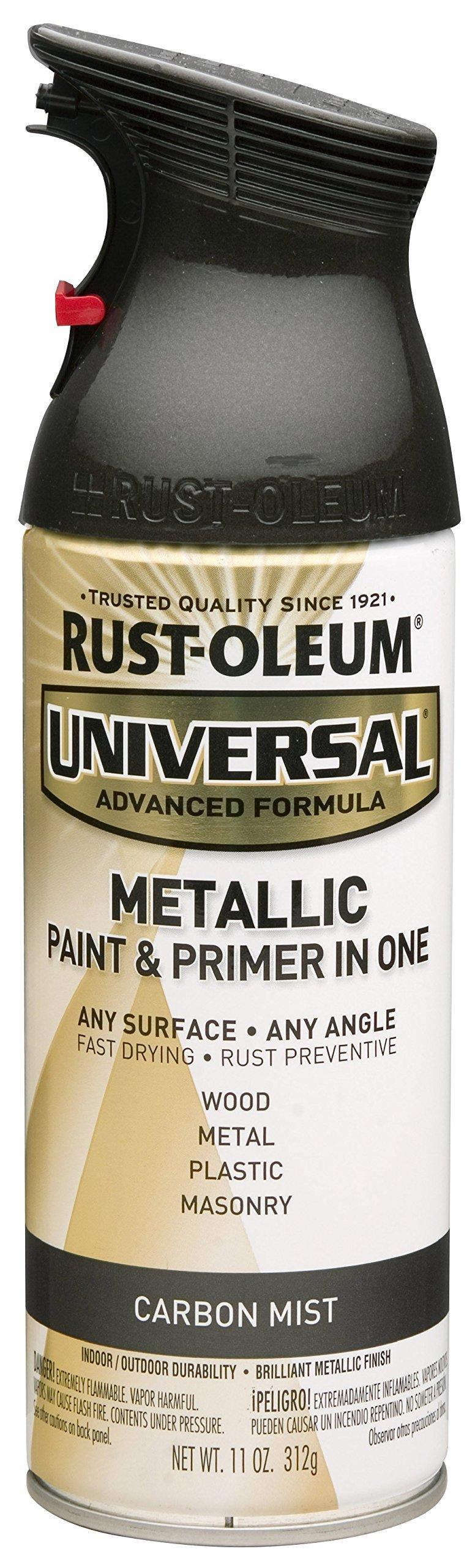 Rust-Oleum 261413 Universal All Surface Spray Paint, 11 oz, Metallic Carbon Mist