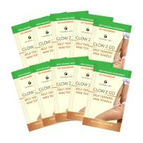 Self Tanning Towels Set of 10, Classic Fair to Medium Fake Tan Towelettes, Organic Sunless Self Tanning Towel Solution For Face And Half Body. Professional Streak Free Sunless Tanning Gives Gold Sunless Glow