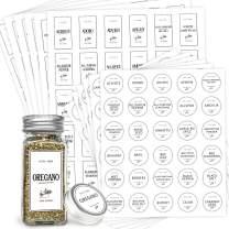 GMISUN White Spice Labels Preprinted, 360 Farmhouse Waterproof Spice Labels Stickers for Kitchen Organization, Modern Minimalist Label Stickers for Spice Jars, Mason Jars, Cruet Container