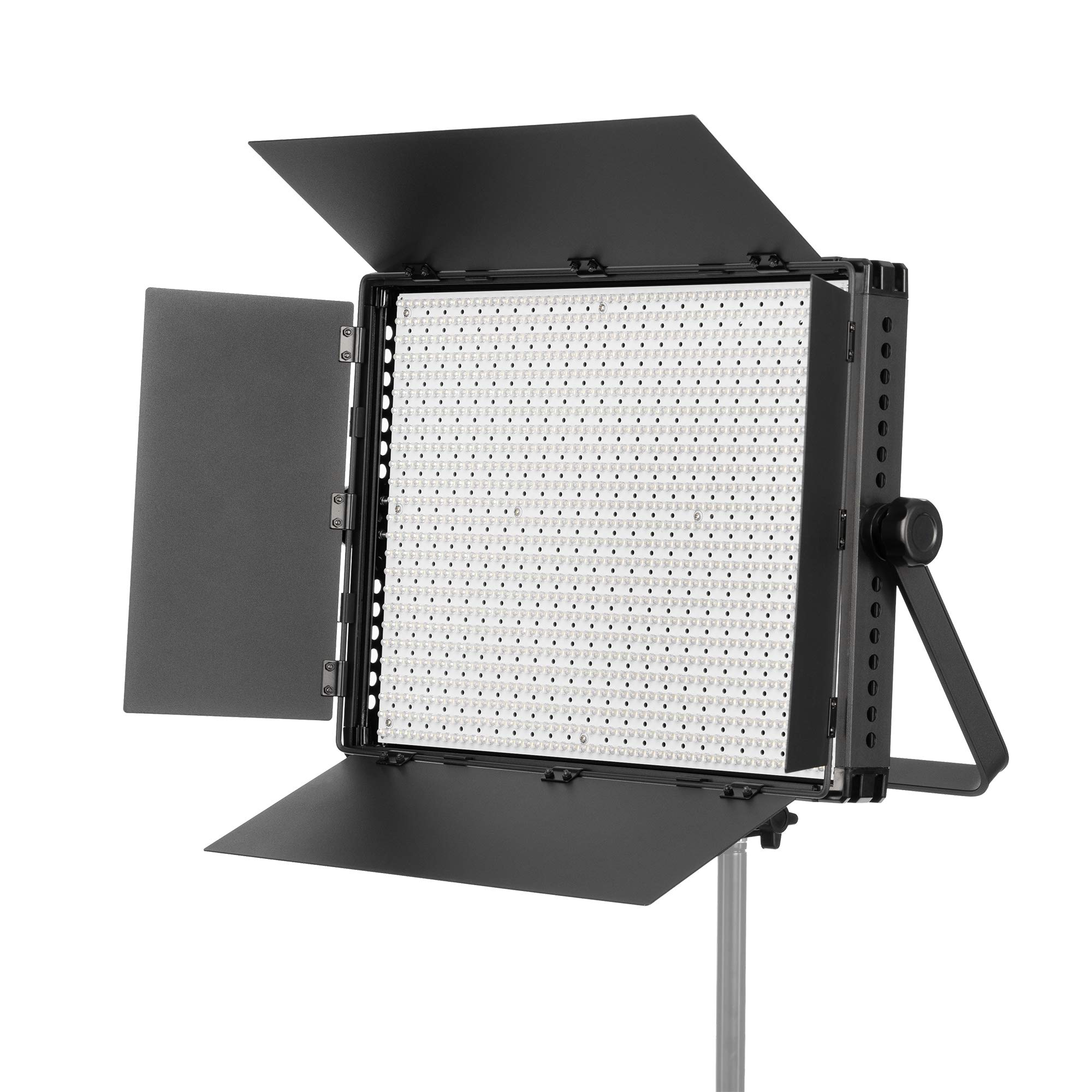 Fovitec - 900 LED Bi-Color Panel for Video and Photo with Barndoors, DMX, V-Lock Mount, and Case