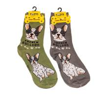 Foozys Unisex Crew Socks | Canine Small Dog Breed Novelty Socks (2 Pair)