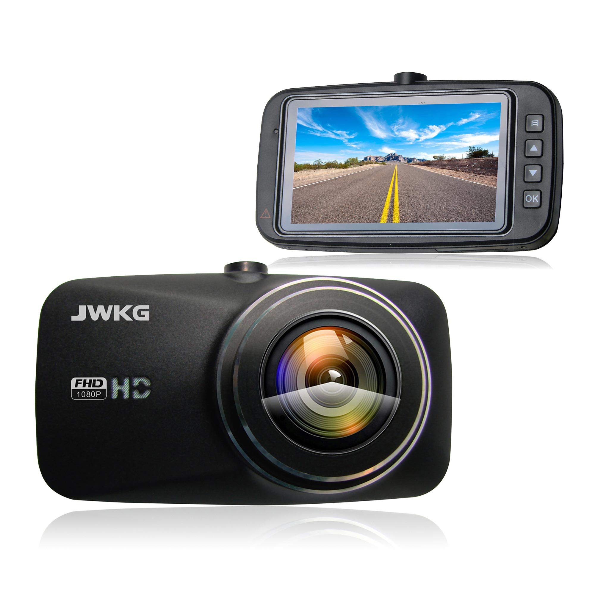 """Full HD 1080P Car Dash Cam 2.7"""" Screen Wide View Angle Night Vision Dash Camera Recorder DVR with G-Sensor, WDR, Loop Recording,Built-in Exmor CMOS"""