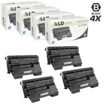 LD Remanufactured Toner Cartridge Replacement for Okidata 52123602 B720 Series High Yield (Black, 4-Pack)