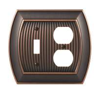 Amerock Sea Grass 1 Toggle, 1 Receptacle Oil-Rubbed Bronze Wall Plate