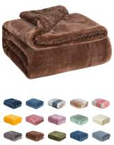 WONDER MIRACLE Fuzzy Sherpa Double Layers Super Thick and Warm Fleece Reversible Infant,Baby,Toddler,pet Blanket for Crib, Stroller, Travel, Couch and Bed (40Wx50L, S-Chocolate)
