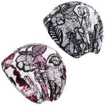 HONENNA Printed Turban Headband Chemo Cap Soft Sleep Beanie