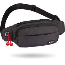Large Fanny Pack for Women Men Fashionable Waterproof Waist Bag Packs for Running Hiking Travel Workout Dog Walking Outdoors Sport Casual Hands-Free Sling Belt Bag Fits All Size of Phones