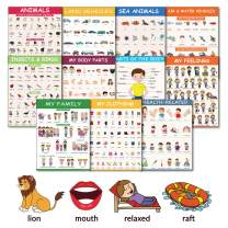 11 Educational Classroom Posters for Toddlers – Body Parts, Feelings & Emotions, Family, Clothing, Health, Vehicles, Animals, Birds & Insects - Learning for Toddlers Classroom Decorations
