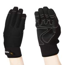 AmazonBasics Premium Waterproof Winter Plus Performance Gloves, Black, L