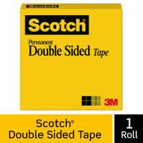 Scotch Double Sided Tape, Strong, Photo-Safe, Engineered for Office and Home Use, 1 x 1296 Inches, Boxed, 1 Roll (665)