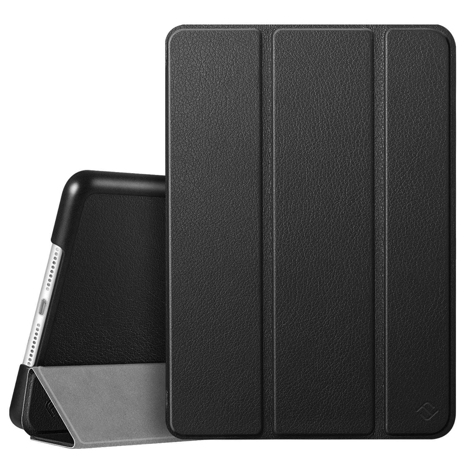 """Fintie Case for iPad 7th Generation 10.2 Inch 2019 - Lightweight Slim Shell Standing Hard Back Cover with Auto Wake/Sleep Feature for iPad 10.2"""" Tablet, Black"""