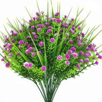 CATTREE Artificial Plants, 4pcs Faux Baby's Breath Fake Small Flowers Gypsophila Shrubs Simulation Greenery Bushes Wedding Centerpieces Table Floral Arrangement Bouquet Filler - Rose