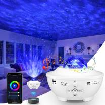 Night Light Projector & Skylight Projector, 4 in 1 Smart Light Projector Works with Alexa Google Home,Comes with Bluetooth Speaker and Remote Control,Galaxy Light Projector for Kids,Adults,Teenagers