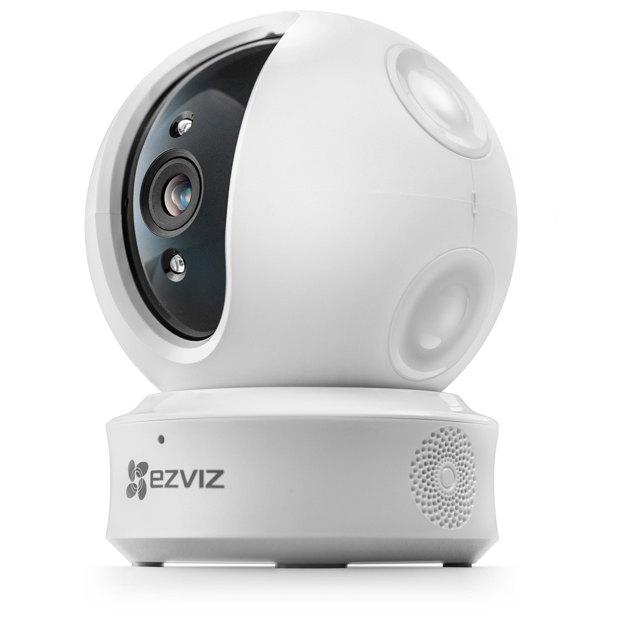 EZVIZ EZ360 1080P HD Pan/Tilt/Zoom WiFi Home Security Camera-Auto Motion Tracking, Night Vision, Two-Way Audio (White) (Camera Only)