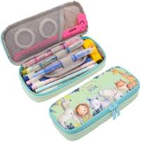 Twinkle Club Cute Pencil Pen Case Bag Pouch Holder for Middle High School College Office Storage(Zoo)