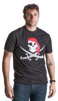 Jolly Roger Pirate Flag | Skull & Crossbones Buccaneer Costume Unisex T-Shirt