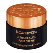 BIOAYURVEDA Ultra Healing Foot Cream| Non Greasy Foot Moisturizer| Natural Lavender & Eucalyptus - Soothes Dry, Cracked, Rough, Callused Heels & Feet, Toenail Infection, Scars| All Skin Type (1.4 Oz)