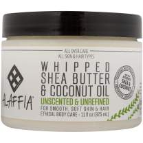 Alaffia Whipped Shea Butter and Coconut Oil, for Smooth, Soft Skin and Hair, 11 Ounce (Unscented)