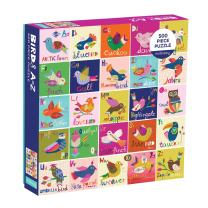 Mudpuppy 500 Piece Birds A to Z Family Jigsaw Puzzle, Cute Illustrated Puzzle with Pictures of Birds from Around The World