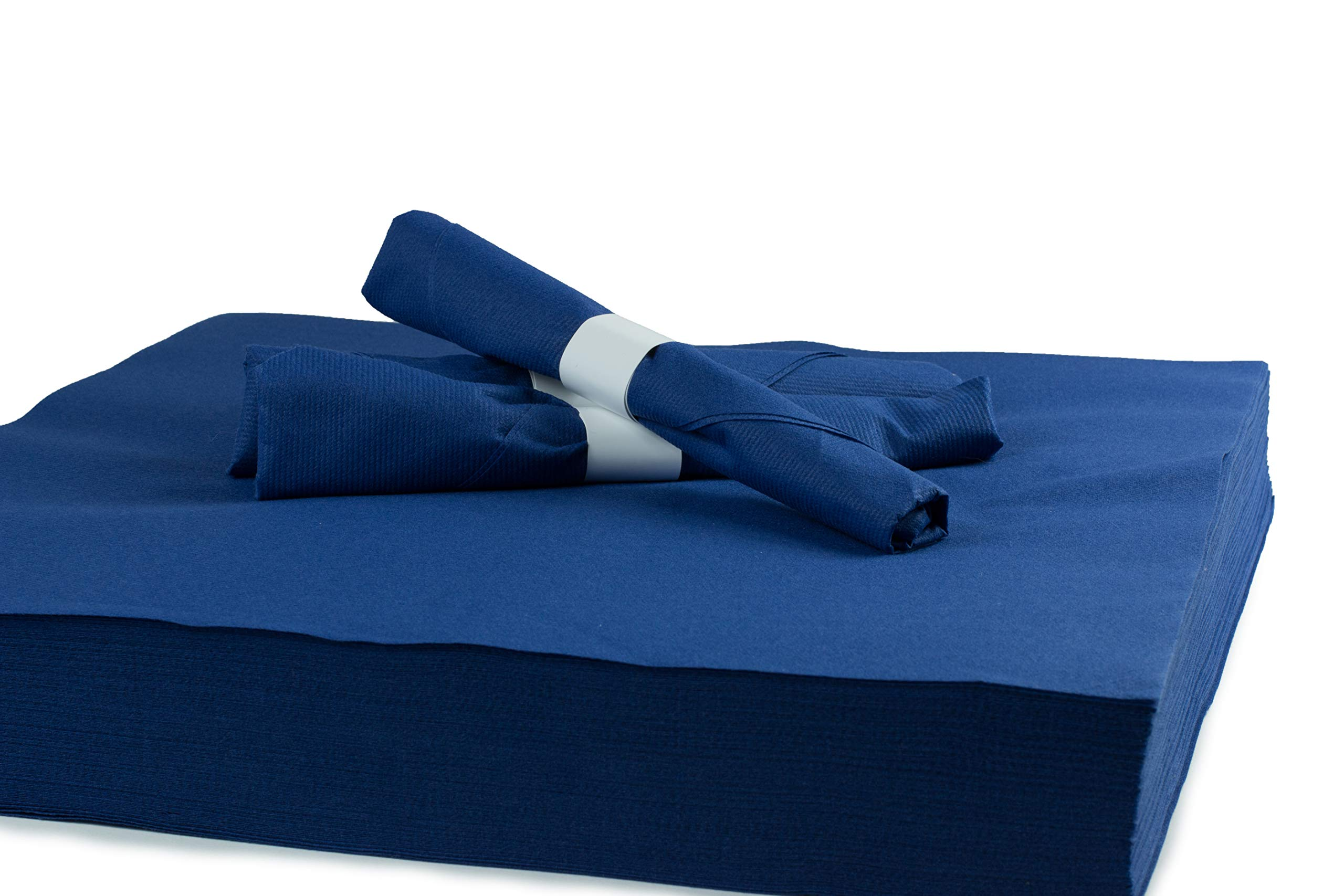 """Simulinen Dinner Napkins - Like Cloth Yet Disposable - Unfolded 16""""x16"""" (Blue 250 Count)"""