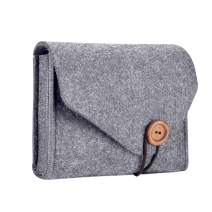 Procase MacBook Power Adapter Case Storage Bag, Felt Portable Electronics Accessories Organizer Pouch for MacBook Pro Air Laptop Power Supply Magic Mouse Charger Cable Hard Drive Power Bank –Gray