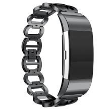 ANCOOL Compatilbe with Fitbit Charge 2 Bands Premium Stainless Steel Metal Replacement Watch Band for Charge 2 Smart Fitness Watch, Black