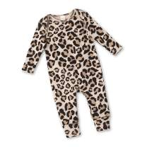 Tesa Babe Baby Romper with Leopard Cheetah Print for Newborns to Toddler Girls Boys