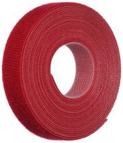 Panduit HLS-15R2 Hook and Loop Miniature Roll Cable Tie, 15-Foot Length, Red