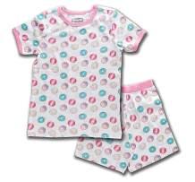 Trimfit Girls Organic Cotton 2-Piece Short Sleeve Dreamwear Pajama Set