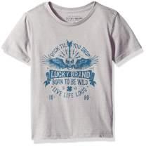 Lucky Brand Little Boys' Short Sleeve Graphic Tee Shirt