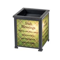 Elanze Designs Irish Blessings Black Metal Electrical Wax Tart and Oil Glass Lantern Warmer