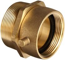 """Dixon Valve SM25F30T Cast Brass Fire Equipment, Male Swivel Adapter with Pin Lug, 2-1/2"""" NST (NH) Female x 3"""" NPT Male"""