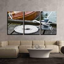 """wall26 - 3 Piece Canvas Wall Art - Dew is Curled Up on The Web - Modern Home Decor Stretched and Framed Ready to Hang - 24""""x36""""x3 Panels"""