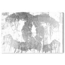 """The Oliver Gal Artist Co. Fashion and Glam Wall Art Canvas Prints 'Hey Lolita Silver' Home Décor, 45"""" x 30"""", Gray, White"""