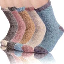 Soft Plush Warm Slipper Fuzzy Socks for Women Winter Fluffy Cozy Sleeping Microfiber Crew Stocking