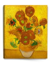 DECORARTS - Sunflowers, Vincent Van Gogh Art Reproduction. Giclee Canvas Prints Wall Art for Home Decor 30x24