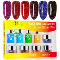 GH Dip Powder Nail Kit Acrylic Dip Powder Kit G6407(Glitter red)