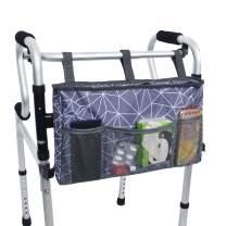 """Walker Bag Organizer, MDSTOP Hanging Storage Bag, Waterproof Accessory Tote Caddy, Universal Fits for Walkers, Scooters or Rollator Walkers (Purple+Grey, 16.5"""" x 9"""")"""