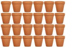 "Set of 24 Archway Lawn & Garden Mini Flower Pots - 2.5"" x 2.5"" Terra Cotta Black Duck Brand (24)"