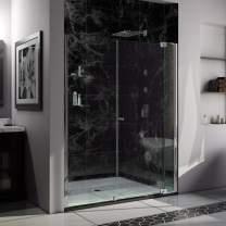 DreamLine Allure 60-61 in. W x 73 in. H Frameless Pivot Shower Door in Chrome, SHDR-4260728-01