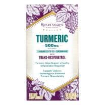 Reserveage, Turmeric 500mg with Resveratrol