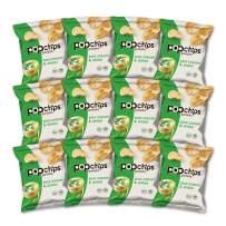 Popchips Potato Chips, Sour Cream & Onion, Gluten Free, Single Serve 0.8 oz Bags (Pack of 12)