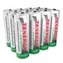 Tenergy 3.2V 400mAh AA Size LiFePO4 Rechargeable Batteries, 12 Pcs (3 Cards)
