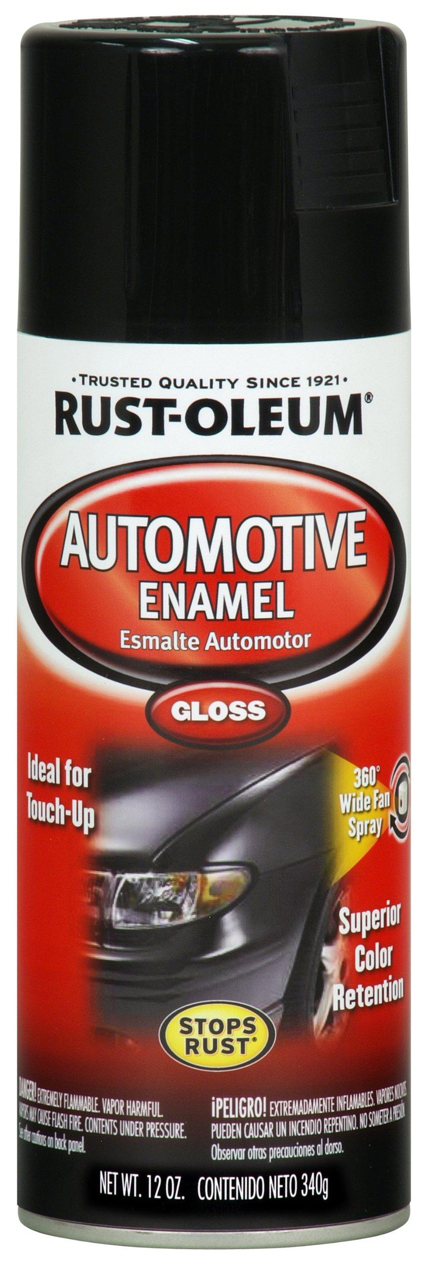 Rust-Oleum Available 252462 Automotive 12-Ounce Enamel Spray Paint, Gloss Black