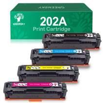 GREENSKY Compatible Toner Cartridge Replacement for HP 202A M281fdw CF500A for HP Laserjet Pro MFP M281fdw M254dw M281cdw M281dw M280nw CF501A CF502A CF503A Printer (BCMY, 4-Pack)