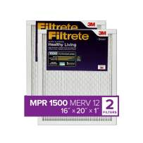 Filtrete 16x20x1, AC Furnace Air Filter, MPR 1500, Healthy Living Ultra Allergen, 2-Pack